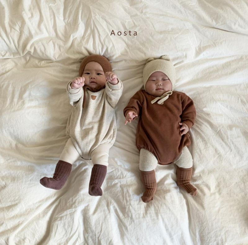 AOSTA - Korean Children Fashion - #Kfashion4kids - Bear Knit Hat - 4