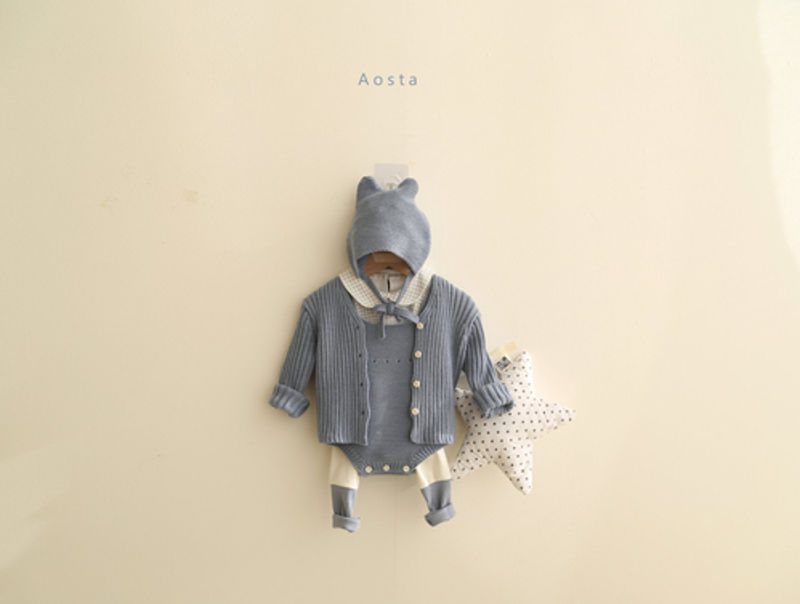 AOSTA - Korean Children Fashion - #Kfashion4kids - Bear Knit Hat - 5