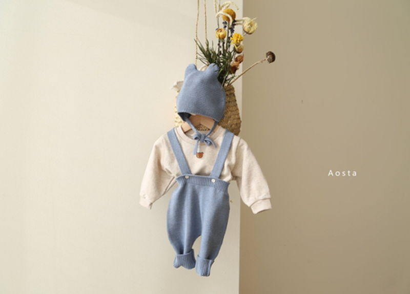 AOSTA - Korean Children Fashion - #Kfashion4kids - Bear Knit Hat - 7