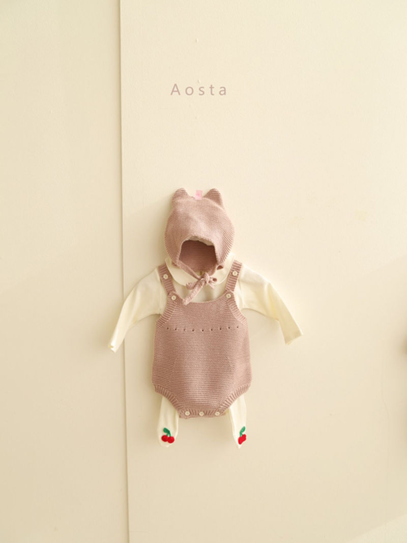 AOSTA - Korean Children Fashion - #Kfashion4kids - Bear Knit Hat - 9