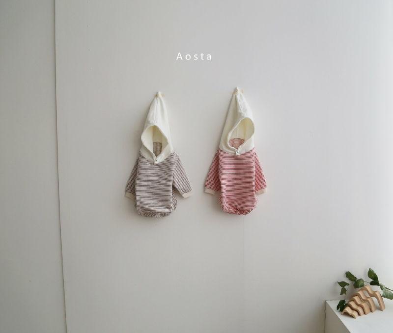 AOSTA - Korean Children Fashion - #Kfashion4kids - Stripe Corn Bodysuit