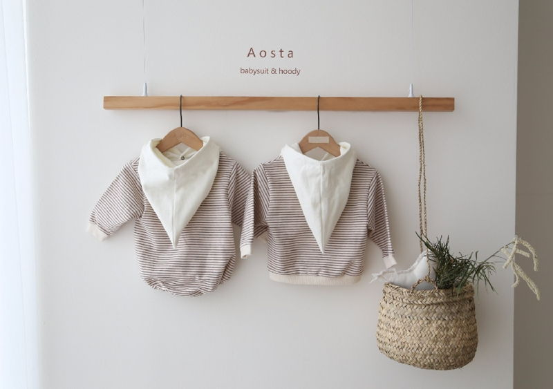 AOSTA - Korean Children Fashion - #Kfashion4kids - Stripe Corn Bodysuit - 10