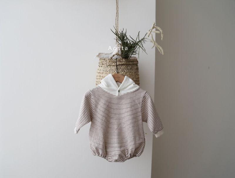 AOSTA - Korean Children Fashion - #Kfashion4kids - Stripe Corn Bodysuit - 3