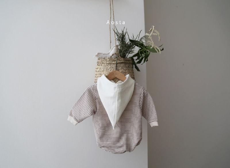 AOSTA - Korean Children Fashion - #Kfashion4kids - Stripe Corn Bodysuit - 4