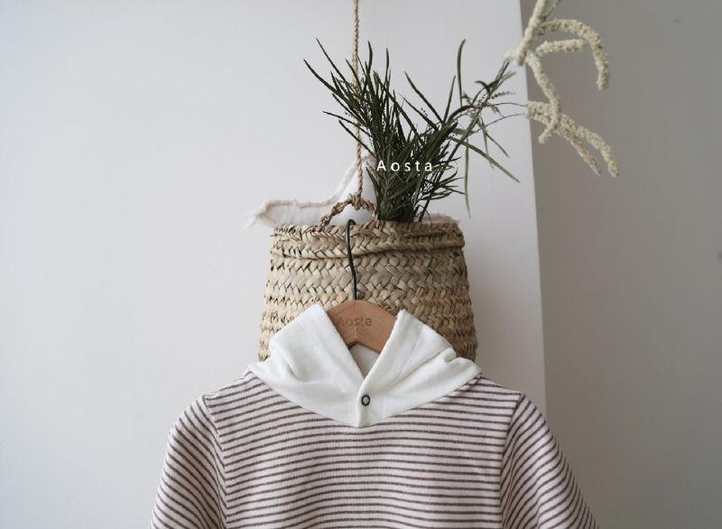 AOSTA - Korean Children Fashion - #Kfashion4kids - Stripe Corn Bodysuit - 5