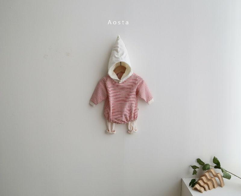 AOSTA - Korean Children Fashion - #Kfashion4kids - Stripe Corn Bodysuit - 6