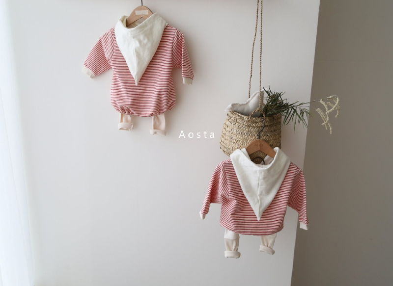 AOSTA - Korean Children Fashion - #Kfashion4kids - Stripe Corn Bodysuit - 7