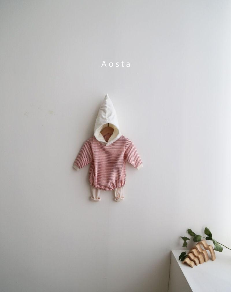 AOSTA - Korean Children Fashion - #Kfashion4kids - Stripe Corn Bodysuit - 8