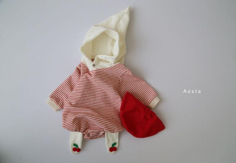 AOSTA - Korean Children Fashion - #Kfashion4kids - Stripe Corn Bodysuit - 9