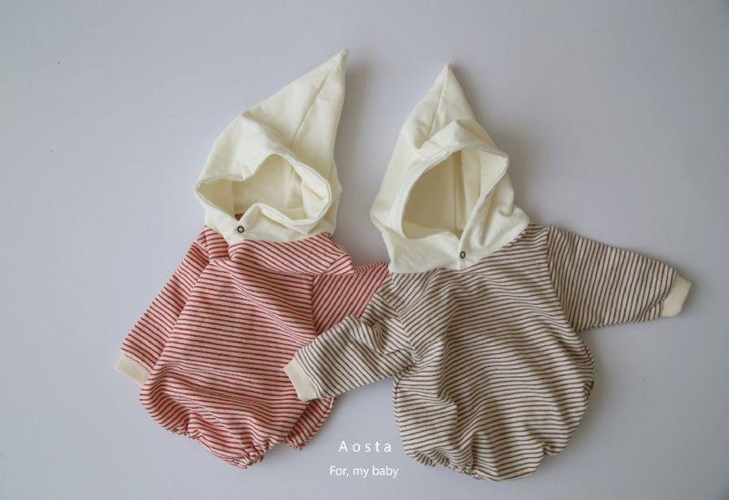 AOSTA - BRAND - Korean Children Fashion - #Kfashion4kids - Stripe Corn Bodysuit