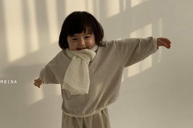 BELLA BAMBINA - BRAND - Korean Children Fashion - #Kfashion4kids - Stripe Rappa T