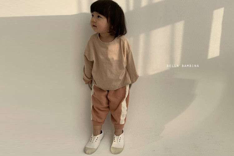 BELLA BAMBINA - BRAND - Korean Children Fashion - #Kfashion4kids - Line Sweat Pants