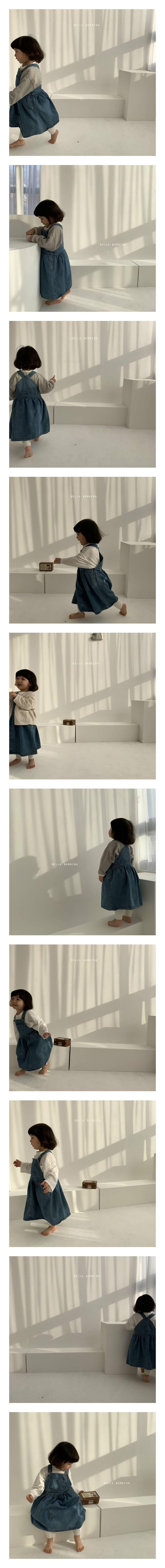 BELLA BAMBINA - Korean Children Fashion - #Kfashion4kids - Denim Suspenders Dress