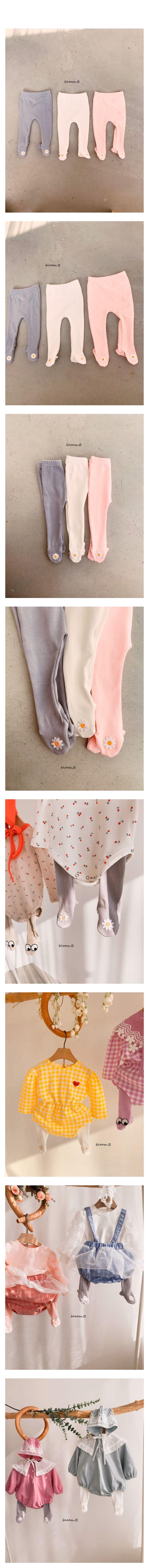 BLOOM B - Korean Children Fashion - #Kfashion4kids - Flower Foot Leggings