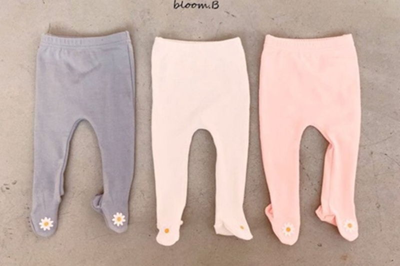 BLOOM B - BRAND - Korean Children Fashion - #Kfashion4kids - Flower Foot Leggings