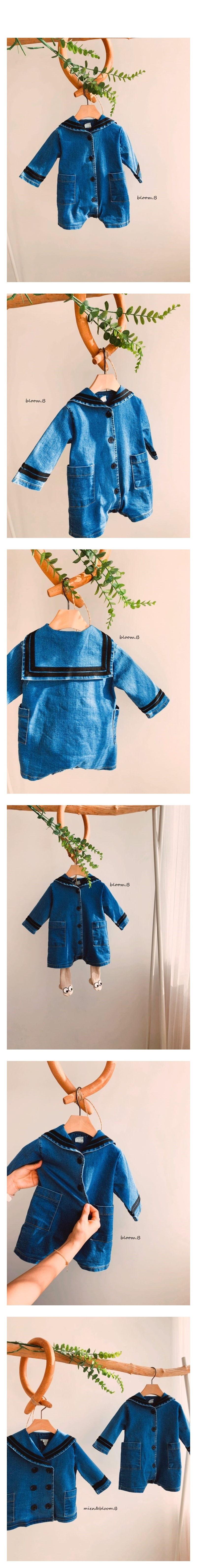 BLOOM B - Korean Children Fashion - #Kfashion4kids - Sailor Denim Bodysuit