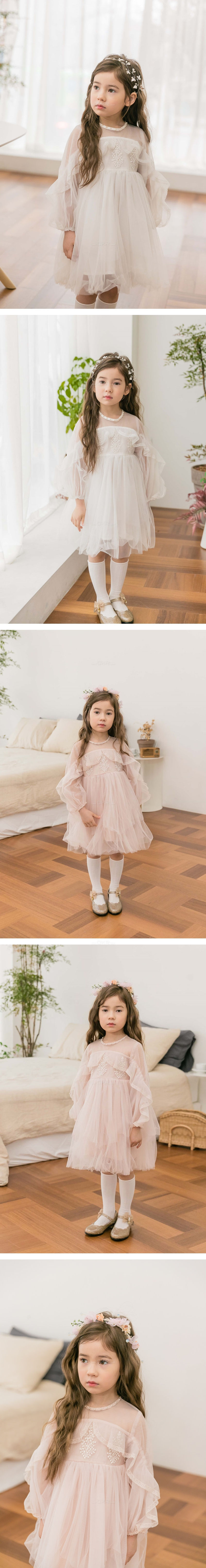 COCO RIBBON - Korean Children Fashion - #Kfashion4kids - Ruffle Dress