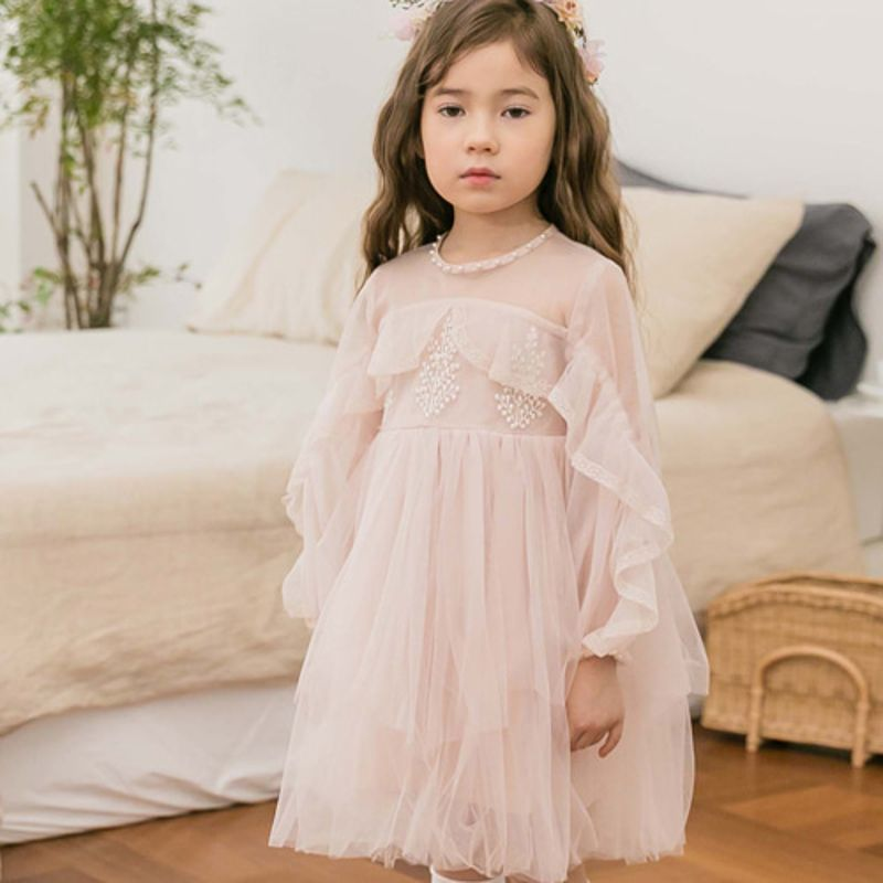 COCO RIBBON - BRAND - Korean Children Fashion - #Kfashion4kids - Ruffle Dress