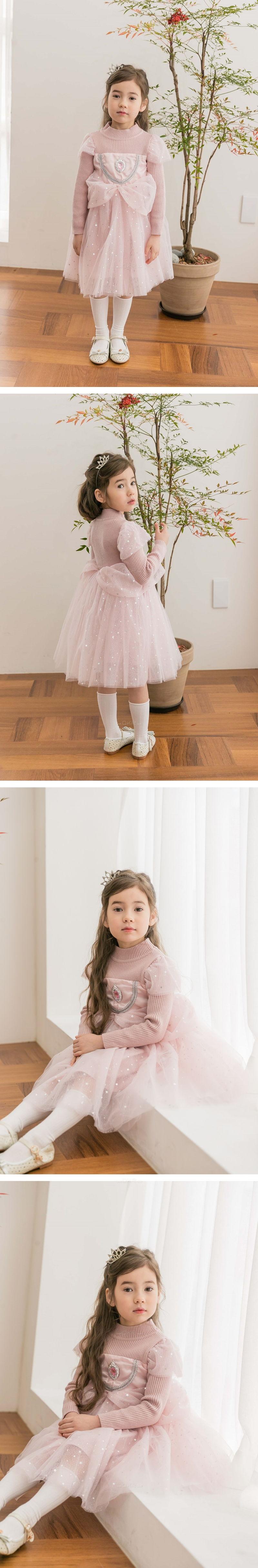 COCO RIBBON - Korean Children Fashion - #Kfashion4kids - Star Princess One-piece