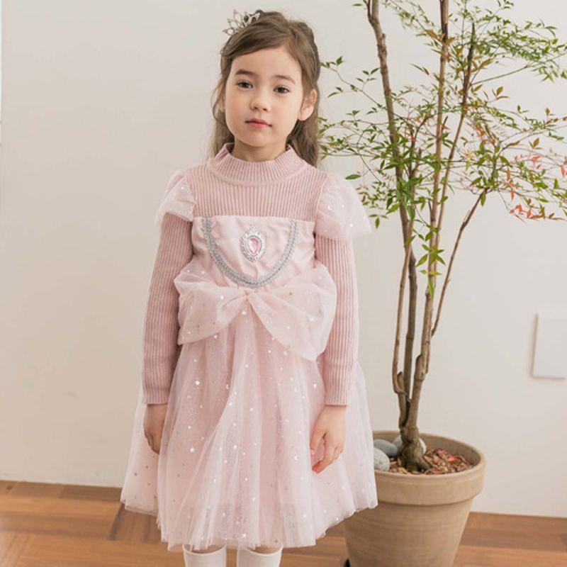 COCO RIBBON - BRAND - Korean Children Fashion - #Kfashion4kids - Star Princess One-piece