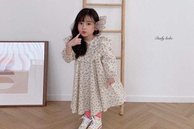 DAILY BEBE - BRAND - Korean Children Fashion - #Kfashion4kids - Spring Spring Dress