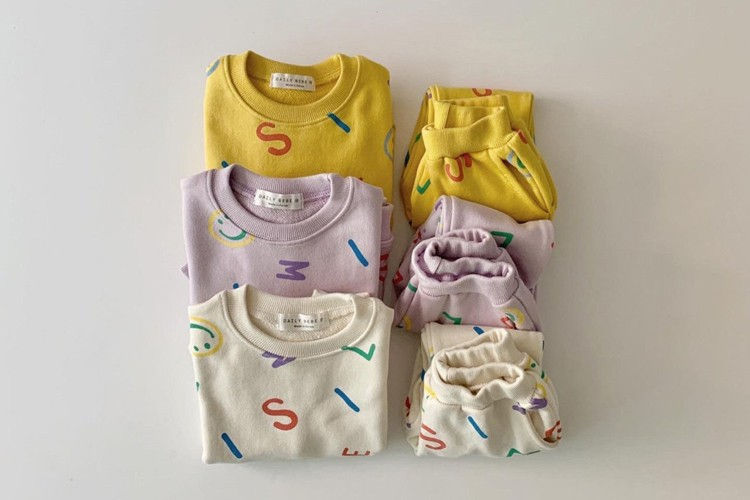 DAILY BEBE - BRAND - Korean Children Fashion - #Kfashion4kids - Smile Set