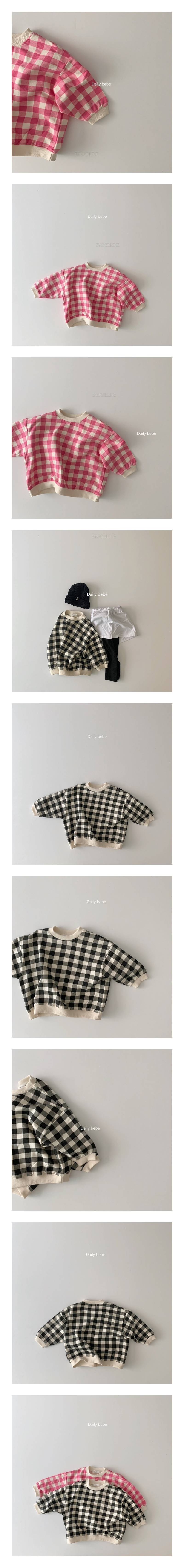 DAILY BEBE - Korean Children Fashion - #Kfashion4kids - Check MtM T