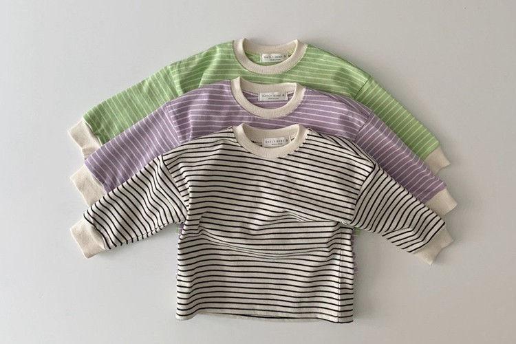 DAILY BEBE - BRAND - Korean Children Fashion - #Kfashion4kids - Spring Stripe T
