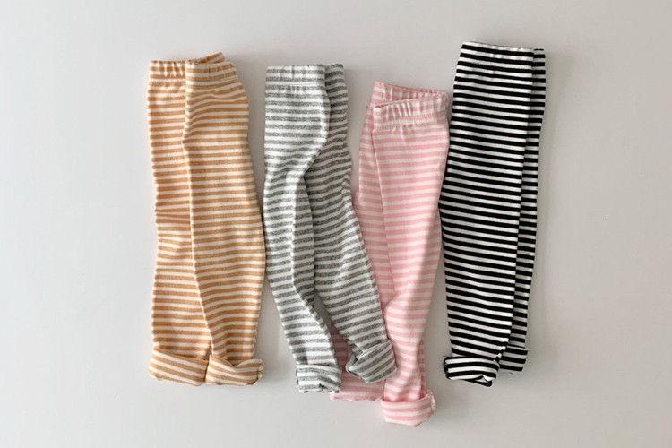 DAILY BEBE - BRAND - Korean Children Fashion - #Kfashion4kids - Spring Stripe Leggings