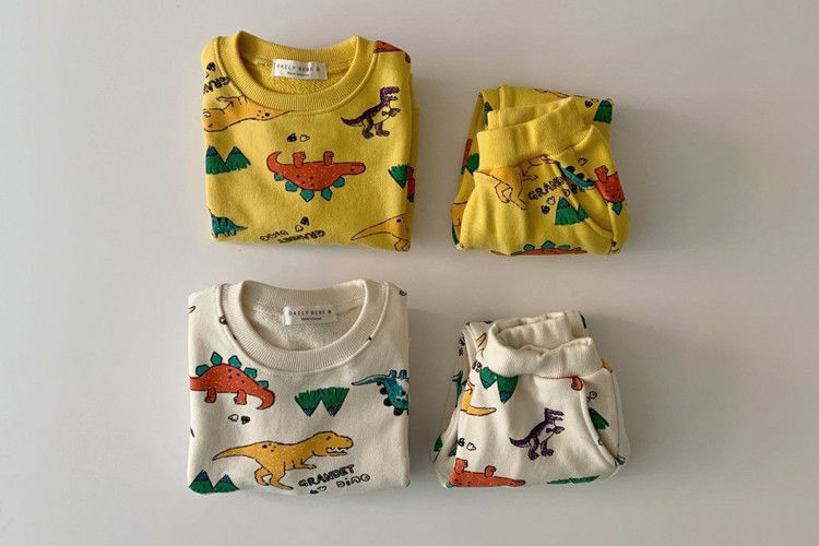 DAILY BEBE - BRAND - Korean Children Fashion - #Kfashion4kids - Grandet Dinosaur Set