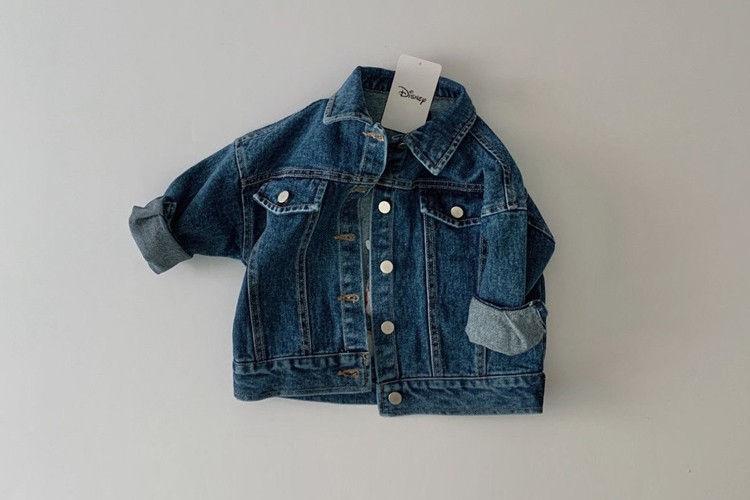 DAILY BEBE - BRAND - Korean Children Fashion - #Kfashion4kids - Mickey Denim Jacket