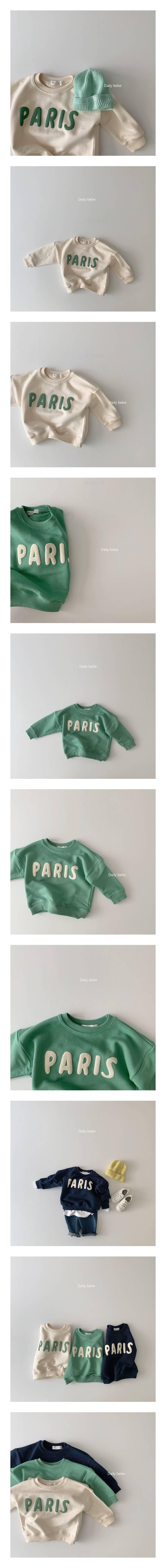 DAILY BEBE - Korean Children Fashion - #Kfashion4kids - Paris MtM T