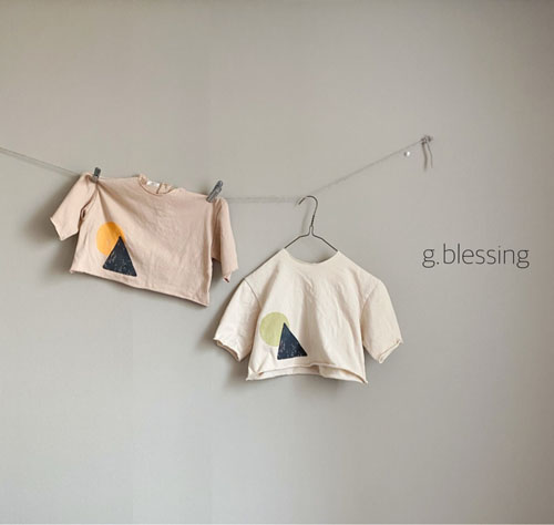 G BLESSING - BRAND - Korean Children Fashion - #Kfashion4kids - Shape Tee