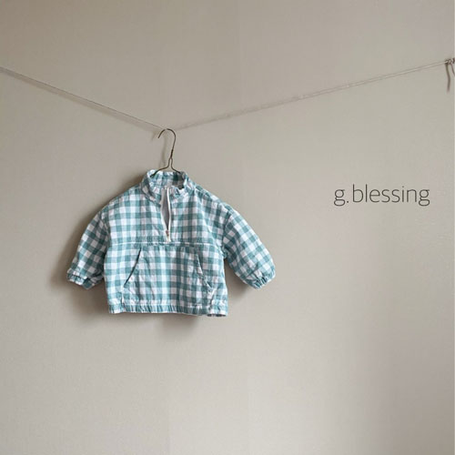 G BLESSING - Korean Children Fashion - #Kfashion4kids - Check Anorak