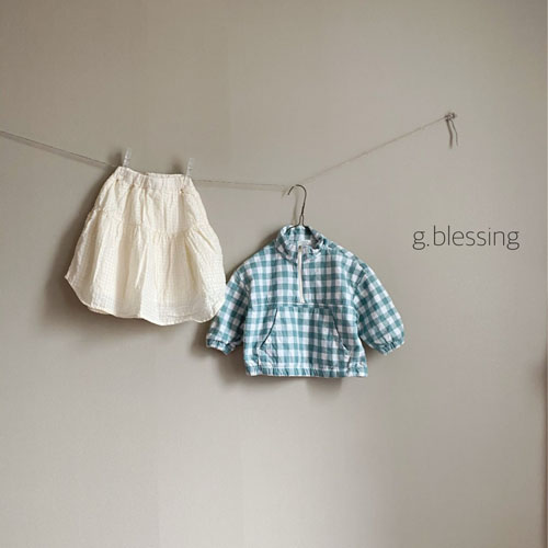 G BLESSING - Korean Children Fashion - #Kfashion4kids - Check Anorak - 4