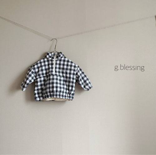 G BLESSING - Korean Children Fashion - #Kfashion4kids - Check Anorak - 5