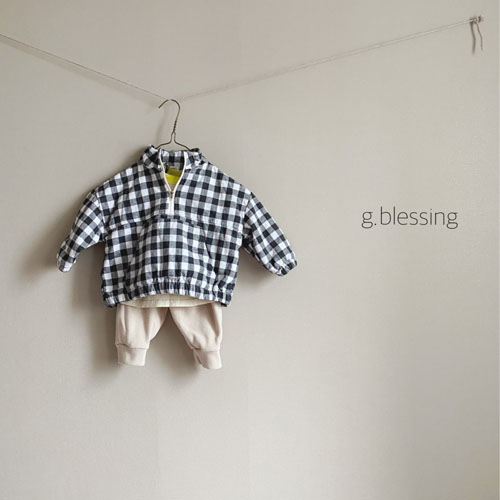 G BLESSING - Korean Children Fashion - #Kfashion4kids - Check Anorak - 8