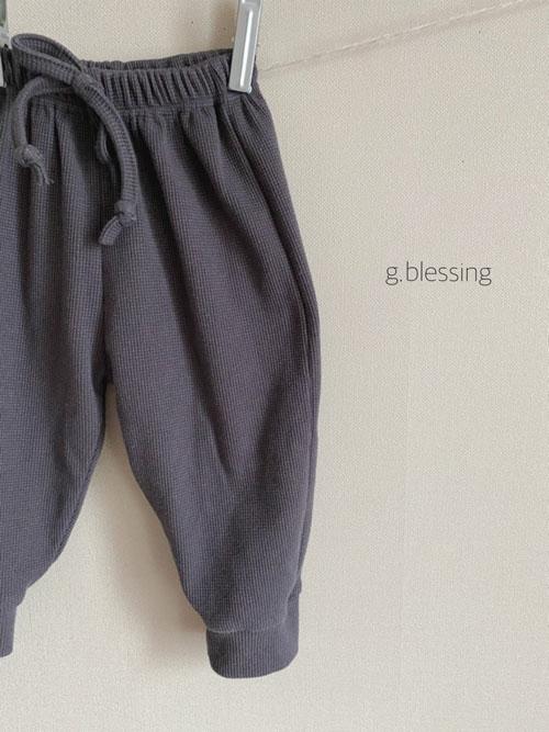 G BLESSING - Korean Children Fashion - #Kfashion4kids - Waffle Jogger Pants - 3
