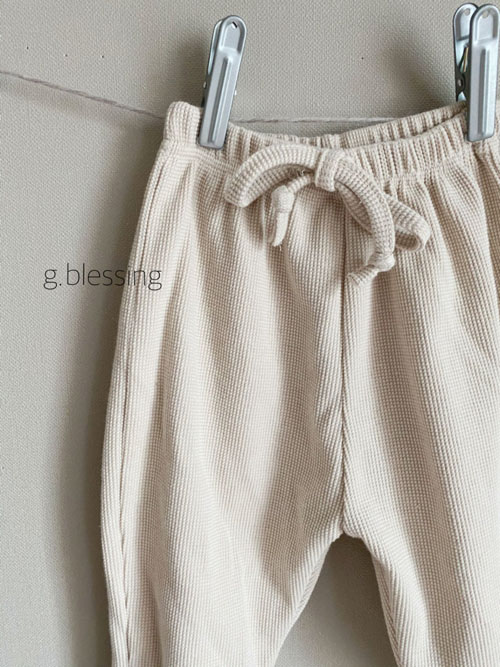 G BLESSING - Korean Children Fashion - #Kfashion4kids - Waffle Jogger Pants - 4