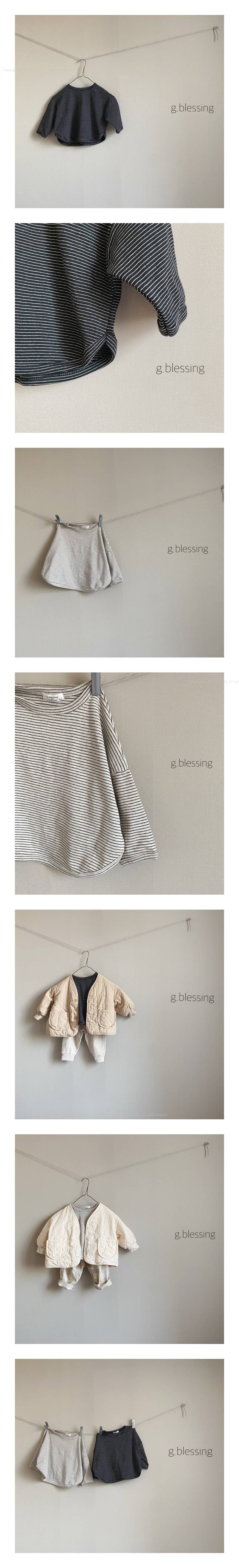 G BLESSING - Korean Children Fashion - #Kfashion4kids - Gogo Stripe Tee