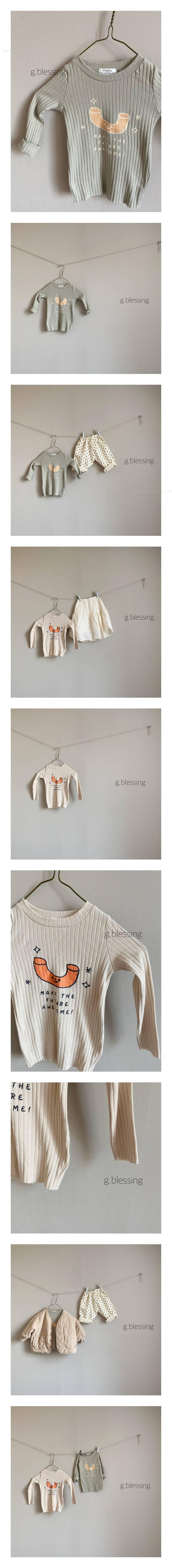 G BLESSING - Korean Children Fashion - #Kfashion4kids - Magnetic Rib Tee