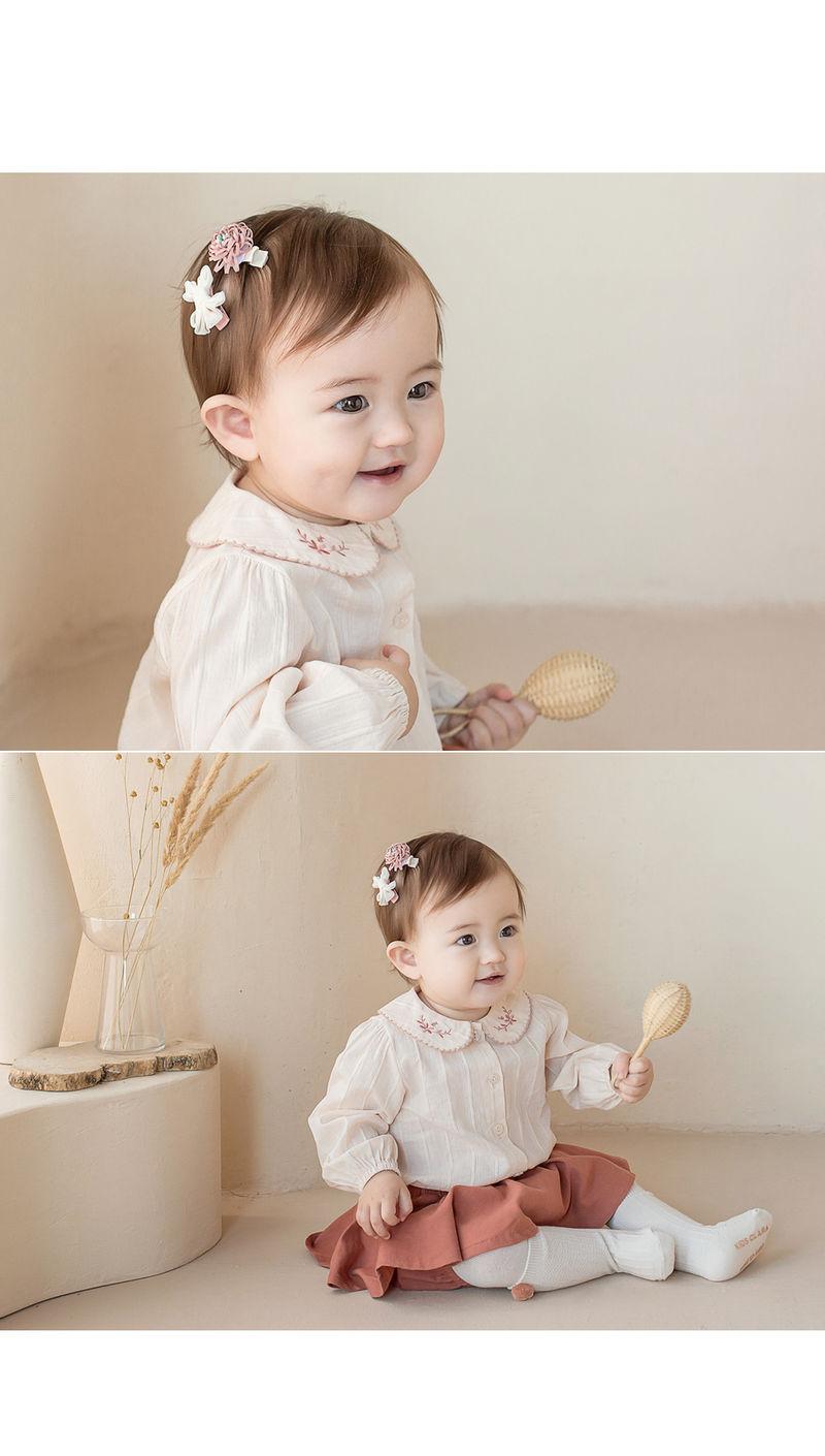 HAPPY PRINCE - Korean Children Fashion - #Kfashion4kids - Michel Mini Baby Hairpin Set - 3