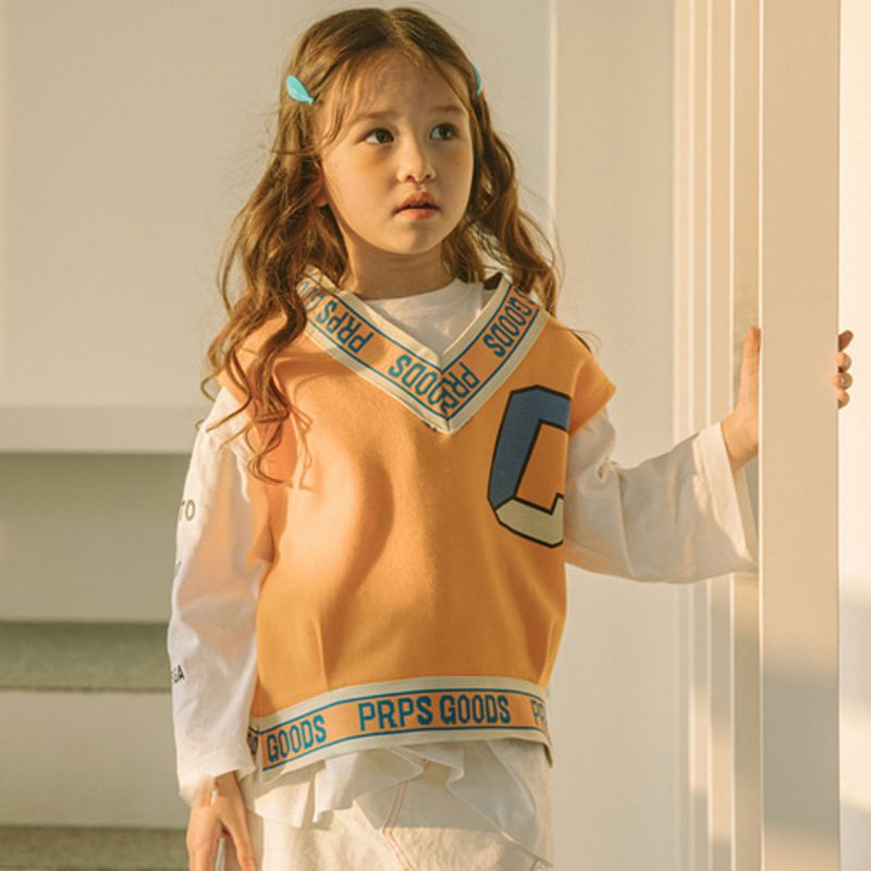 LILAS - BRAND - Korean Children Fashion - #Kfashion4kids - Knock Maxi Vest