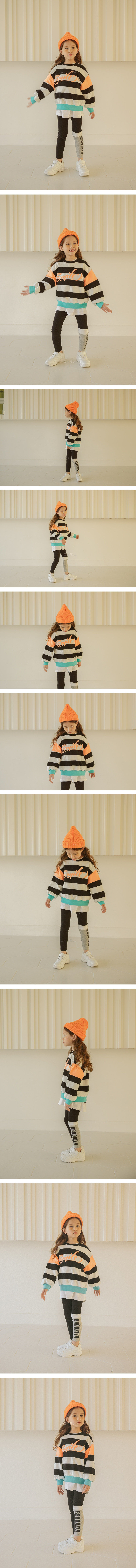 LILAS - Korean Children Fashion - #Kfashion4kids - Smile Stripe MTM