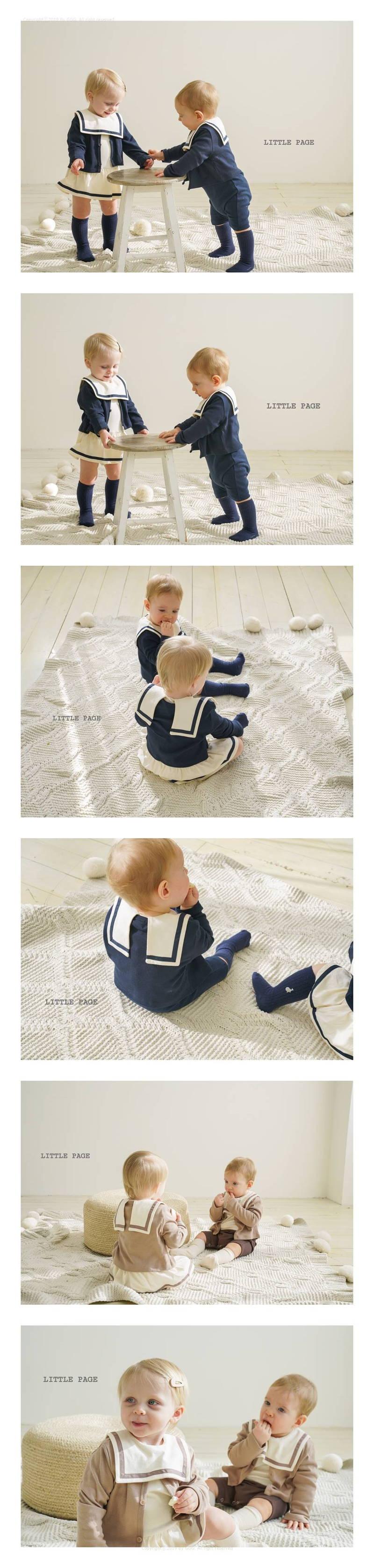 LITTLE PAGE - Korean Children Fashion - #Kfashion4kids - Basic Baby Cardigan