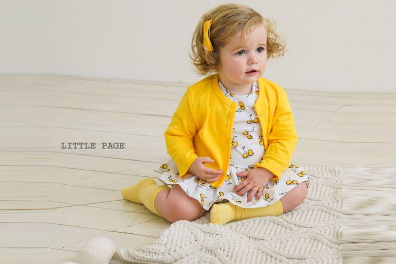 LITTLE PAGE - BRAND - Korean Children Fashion - #Kfashion4kids - Print One-piece Bodysuit with Cardigan