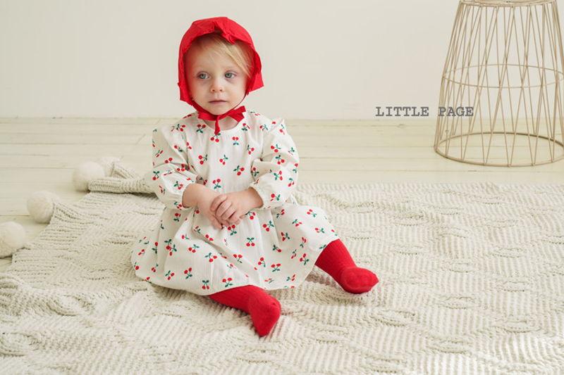 LITTLE PAGE - BRAND - Korean Children Fashion - #Kfashion4kids - Baby One-piece with Bonnet