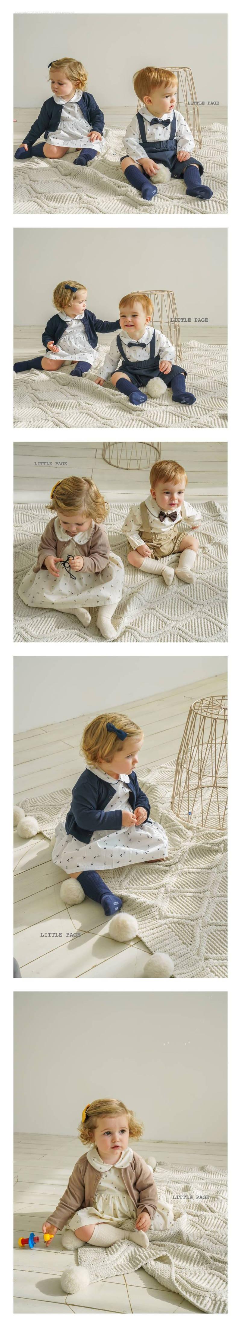 LITTLE PAGE - Korean Children Fashion - #Kfashion4kids - Collar Baby One-piece