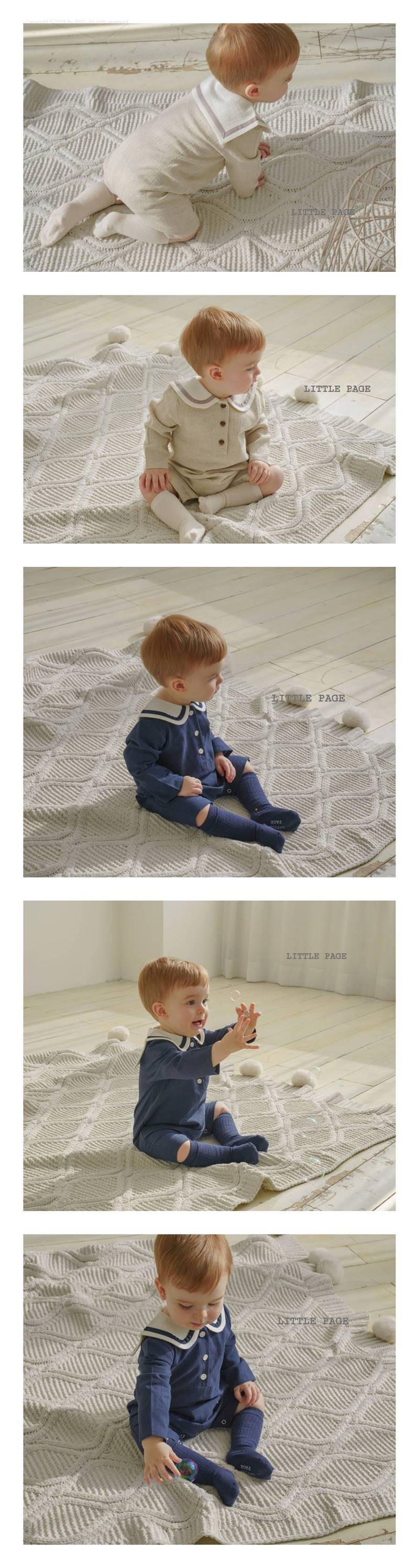 LITTLE PAGE - Korean Children Fashion - #Kfashion4kids - Sailor Bodysuit