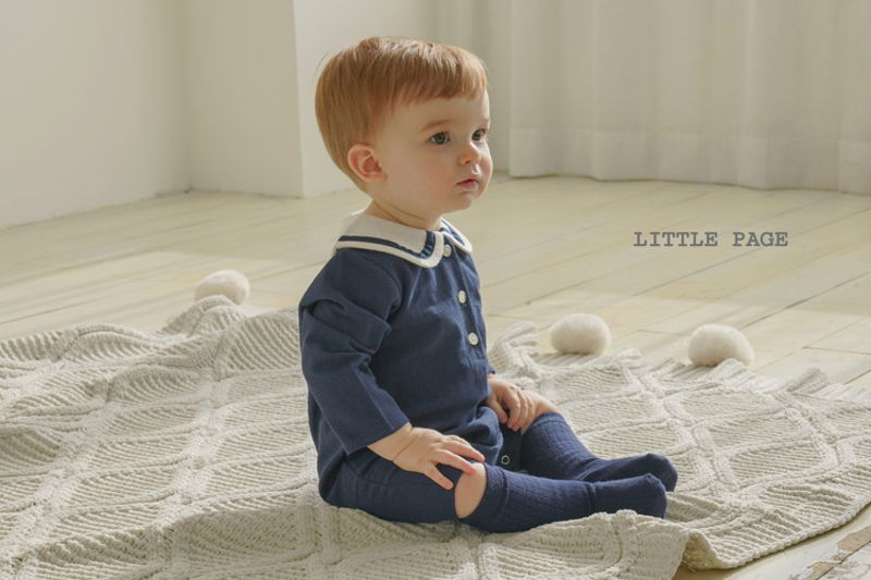 LITTLE PAGE - BRAND - Korean Children Fashion - #Kfashion4kids - Sailor Bodysuit